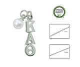 Kappa Alpha Theta Sorority Lavalier Necklace with Pearl - DKGifts.com