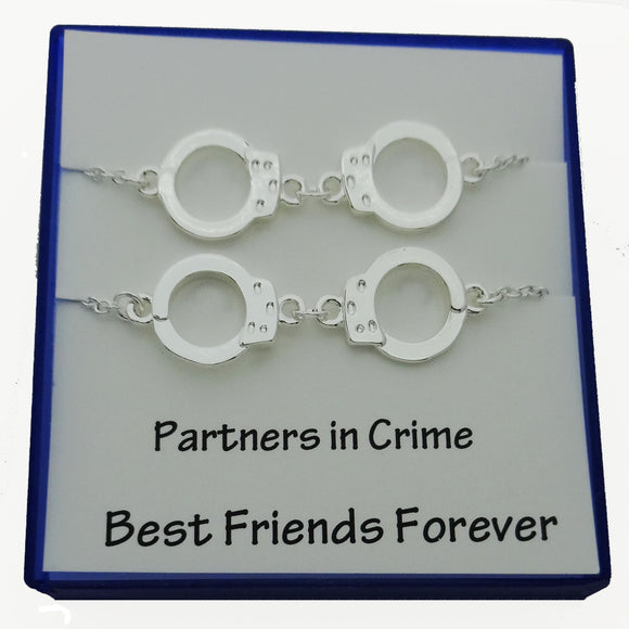 Partners in Crime Best Friend Necklace - DKGifts.com