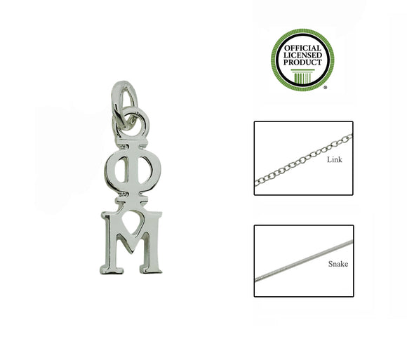 Phi Mu Greek Sorority Lavalier Pendant Necklace - DKGifts.com
