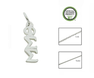 Phi Sigma Sigma Greek Sorority Lavalier Pendant Necklace - DKGifts.com