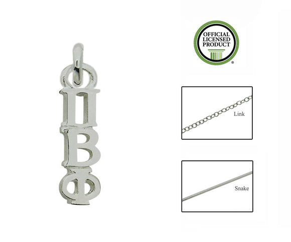 Pi Beta Phi Greek Sorority Lavalier Charm Drop Necklace - DKGifts.com