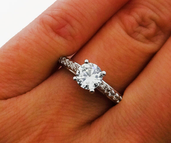 Cubic Zirconia Promise Ring, Engagement Ring, Wedding Ring - DKGifts.com