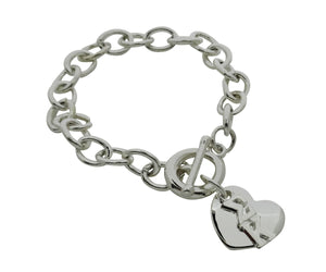 Sigma Kappa Rolo Sorority Bracelet with Heart on Toggle Clasp - DKGifts.com