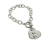 Tri Sigma Sigma Sigma Rolo Sorority Bracelet with Heart on Toggle Clasp - DKGifts.com