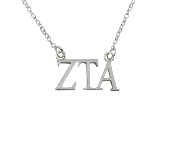 Zeta Tau Alpha Floating Sorority Lavalier Necklace - DKGifts.com