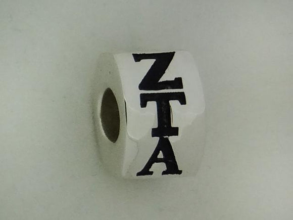 Zeta Tau Alpha Letter Greek Sorority Bead European Big Hole Bead - DKGifts.com