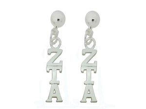 Zeta Tau Alpha Post Greek Sorority Earring - DKGifts.com