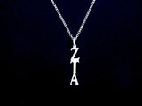 Zeta Tau Alpha Sorority Lavalier Necklace Sterling Silver - DKGifts.com