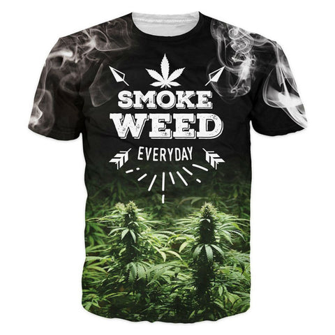 T-Shirts Smoke Weed Everyday
