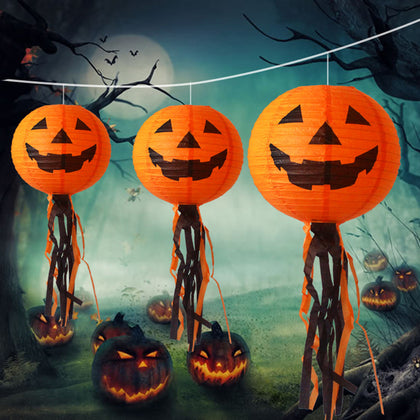 10pcs Funny Pumpkin Face Lampshade