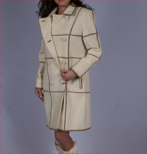 GLORIA - luxurious tailored couture wool coat