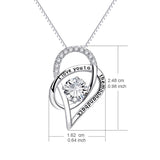 "925 Sterling Silver ""I Love You To The Moon And Back""  Pendant with Necklace"