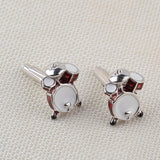 Men's Music Lover Drum Cuff links