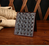 Men's Crocodile embossed 100% top quality genuine cow leather wallet