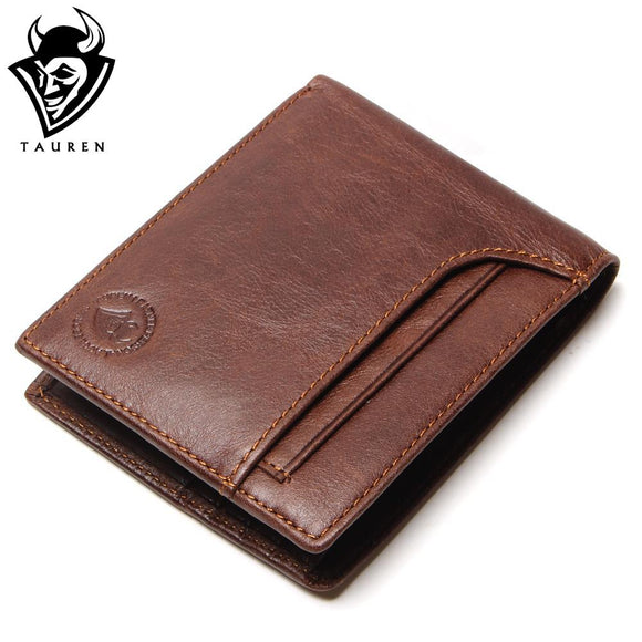 Men's Luxury Bifold Genuine Leather Wallet