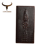 COWATHER Alligator veins genuine leather wallet for men