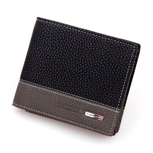 Men's Wallet with business card holder, photo holder, Coin Pocket and Note Compartment