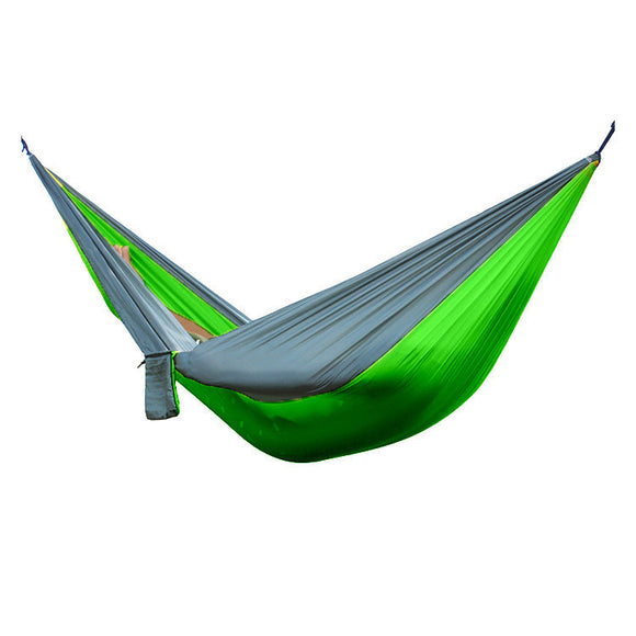Portable Lightweight Nylon Parachute 2 People Hammock for Camping, Travel, Beach, Back Yard Garden