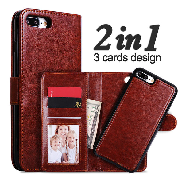 LANCASE Multi-function leather Wallet / Phone cases for iPhones