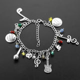 "Fashion Charm Bracelet ""talk less smile more"""
