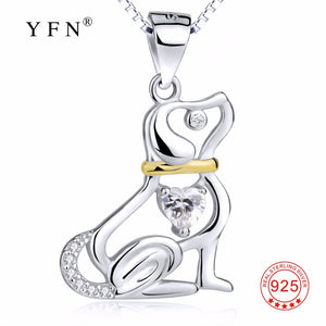 Gnx12709 hot sale yfn 925 sterling silver necklace classic cute gnx12709 hot sale yfn 925 sterling silver necklace classic cute hollow puppy dog pendants necklaces fashion aloadofball Gallery