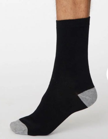 Solid Jack Bamboo Socks - Black