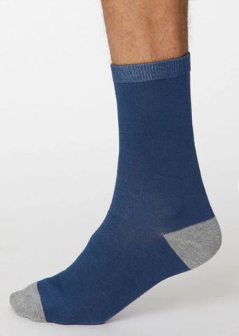 Solid Jack Bamboo Socks - Denim Blue