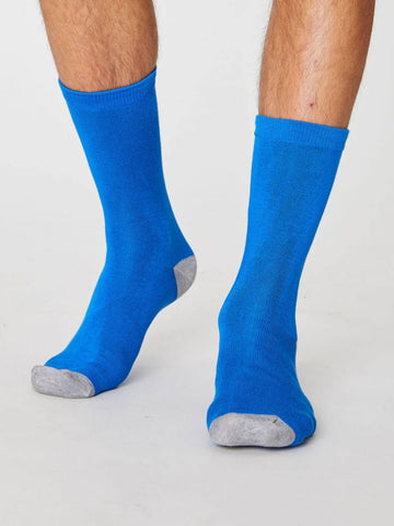 Solid Jack Bamboo Socks - Blue