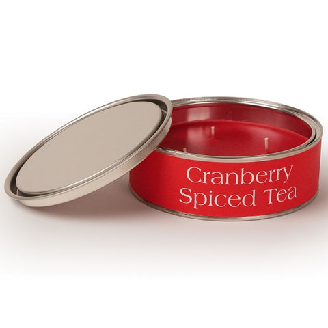 Cranberry Spiced Tea Triple Wick Paint Tin Candle