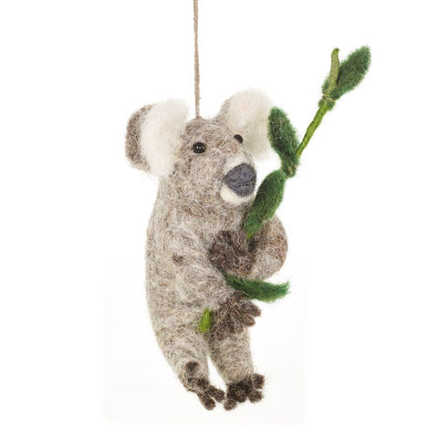 Handmade Felt Cuddly Koala Decoration