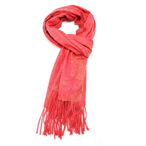Super Soft Flecked Scarf - Coral Pink
