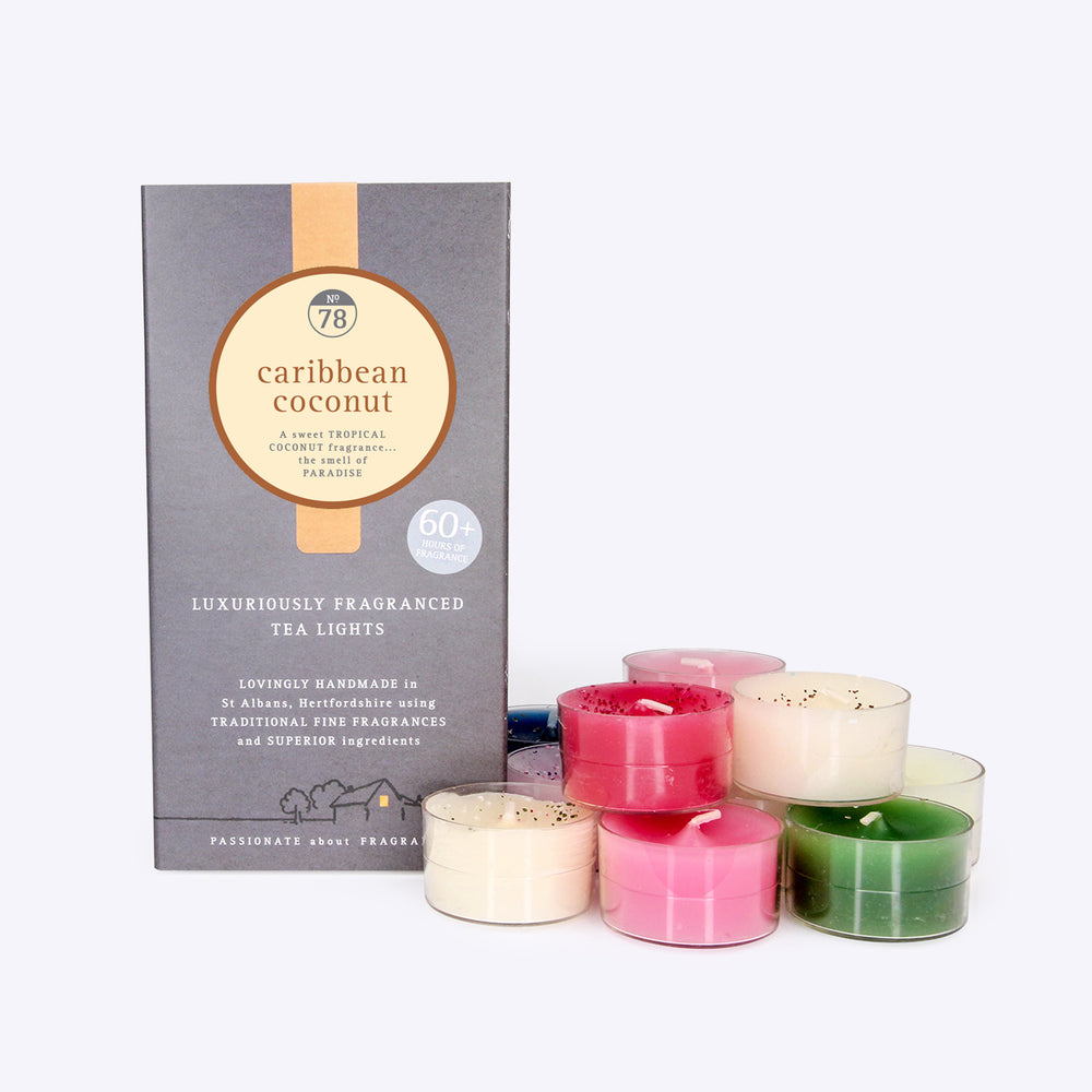 Carribean Coconut Scented Tealights
