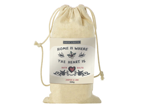 Home is Where the Heart is (Juniper & Lime) Bag Of Bath Salts