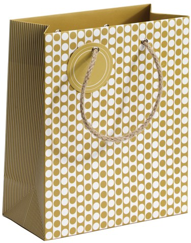 Mustard Dots Medium Gift Bag