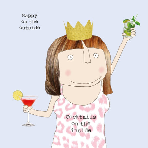 'Cocktails on the Inside' Card