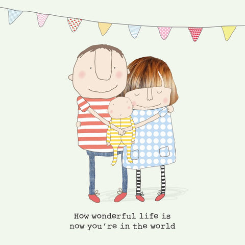 Wonderful Life New Baby Card (756223803489)