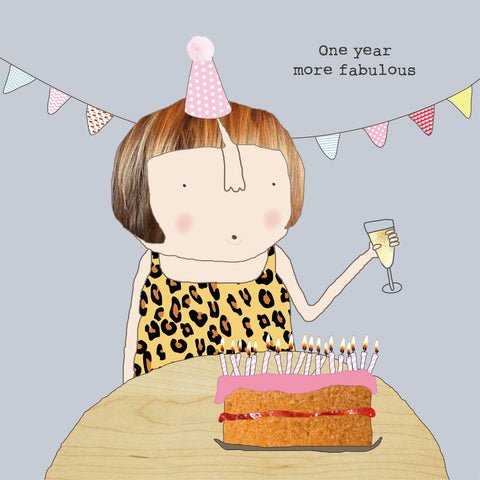 One Year More Fabulous Card (756224426081)