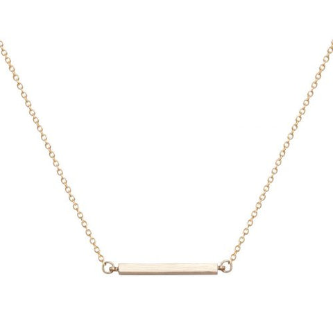 Bar Necklace - Gold