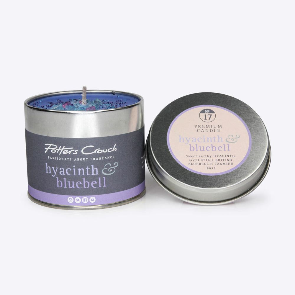 Hyacinth & Bluebell Scented Candle