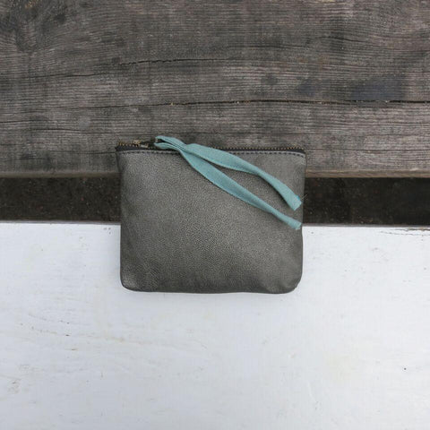Tilo Small Zip Top Purse - Pewter