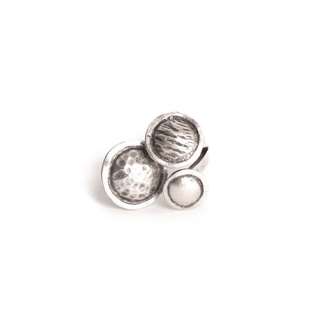 3 Disc Silver Plated Ring