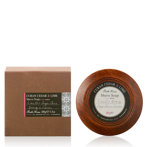 Cuban Cedar & Lime Shave Soap