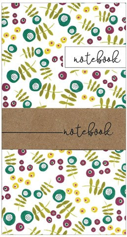 Purple & Lime Print Little Notebook