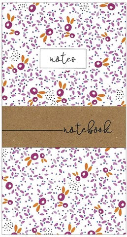 Pink Leaves Print Little Notebook
