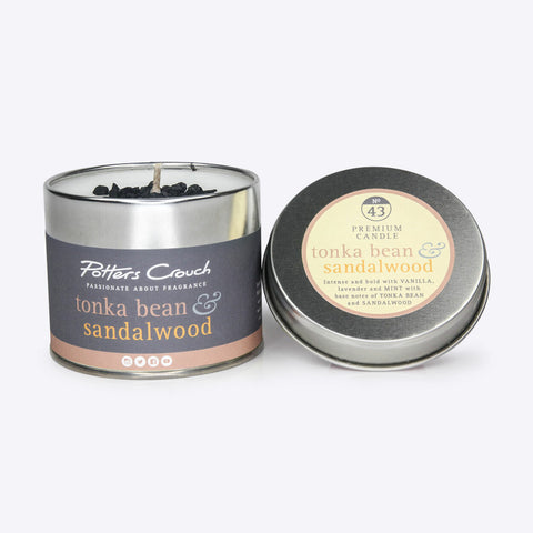 Tonka Bean & Sandalwood Scented Candle
