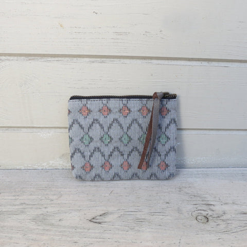 Dhilo Grey Handwoven Coin Purse