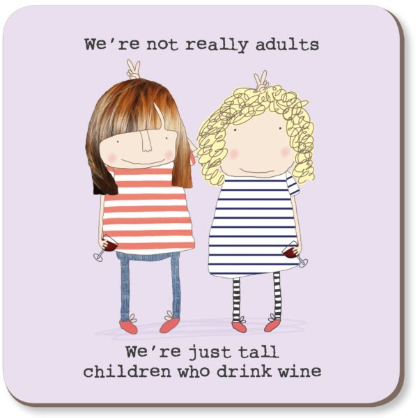Tall Children Who Drink Wine Coaster