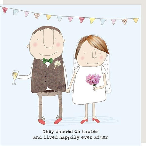 Dance On Tables Wedding Card