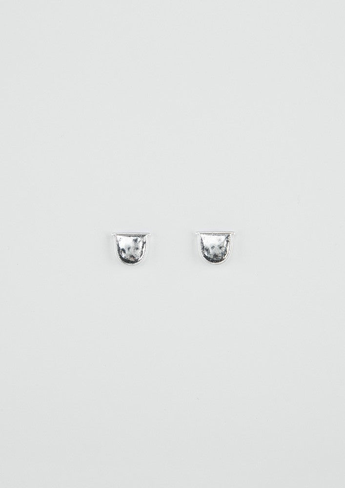 Shield Earrings - Silver