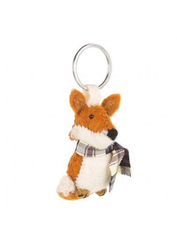 Andrew The Cosy Fox Felt Keyring